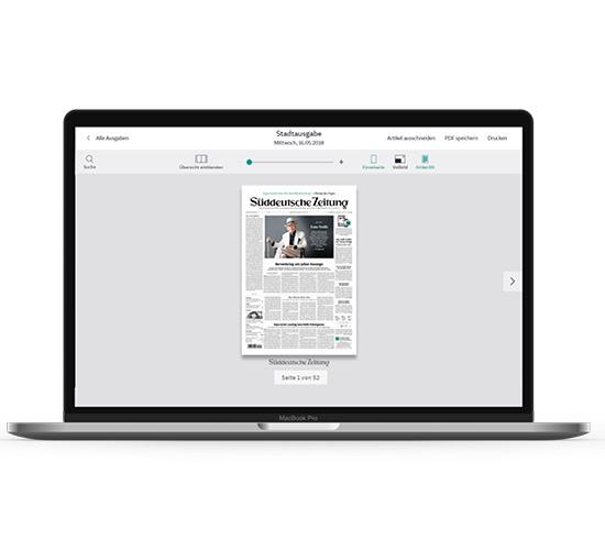 SZ Plus als E-Paper