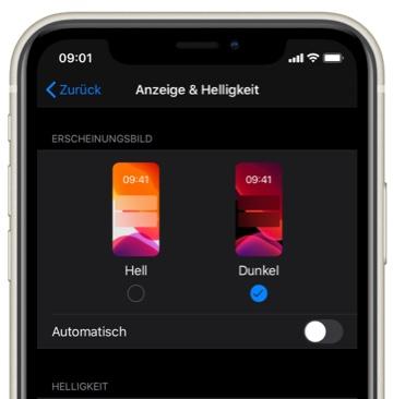 Dunkel Modus in der SZ Nachrichten-App