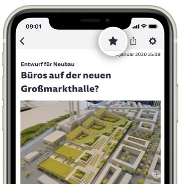 Artikel merken in der SZ Nachrichten-App