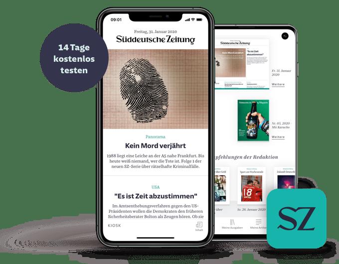 SZ Zeitungs-App 14 Tage kostenlos testen