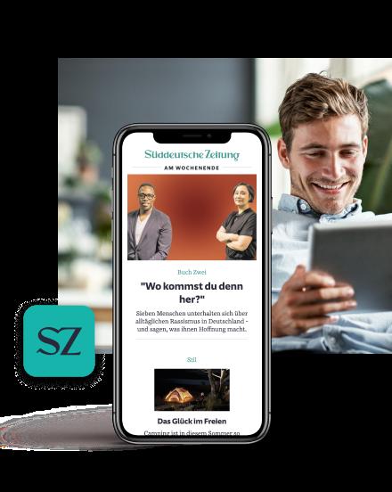Tablet zur EM Kampagne der Süddeutschen Zeitung
