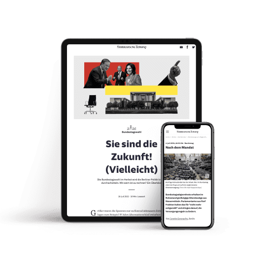 SZ Digital auf Tablet und Smartphone