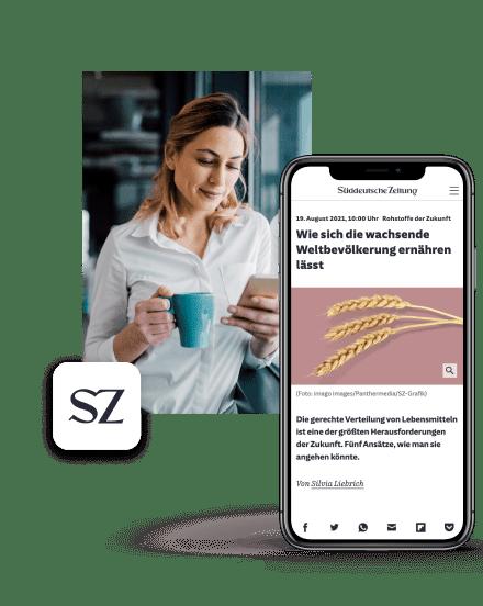 Tablet zur Leseherbst Kampagne der Süddeutschen Zeitung